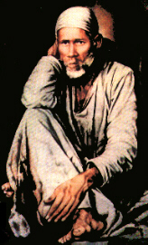 Baba sitting in Dwarkamai